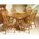 Intercon Furniture Classic Oak 7-Piece Trestle Dining Room Set in Chestnut