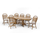 Intercon Furniture Classic Oak 7-Piece Trestle Dining Set in Chestnut