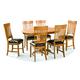 Intercon Furniture Family 7-Piece Round Pedestal Dining Set in Chestnut