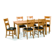 Intercon Furniture Family 7-Piece Leg Dining Set in Chestnut