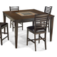 Intercon Furniture Kashi Square Gathering Table in Chocolate and Acacia
