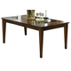 Intercon Furniture Kashi Rectangular Dining Table in Chocolate and Acacia