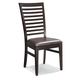 Intercon Furniture Kashi Ladderback Side Chair in Chocolate and Acacia (Set of 2)