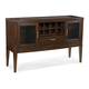 Intercon Furniture Kashi Server with Wine Rack in Chocolate and Acacia