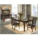 Intercon Furniture Kashi 7-Piece Rectangular Dining Set in Chocolate and Acacia