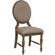 Intercon Furniture Rhone Cameo Back Side Chair in Brushed Almond (Set of 2)