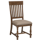 Intercon Furniture Rhone Slat Back Side Chair in Brushed Almond (Set of 2)