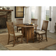Intercon Furniture Rhone 5-Piece Round Dining Set in Brushed Almond