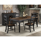 Intercon Furniture Princeton 7-Piece Rectangle Dining Set in Black and Walnut