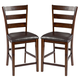 Intercon Furniture Kona Ladderback Bar Stool in Raisin (Set of 2)
