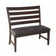 Intercon Furniture Kona Ladderback Dining Bench in Raisin