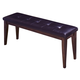 Intercon Furniture Kona Upholstered Backless Dining Bench in Raisin
