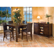 Intercon Furniture Kona 6-Piece Gathering Dining Set in Raisin