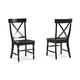 Intercon Furniture Roanoke X-Back Side Chair in Black (Set of 2)
