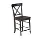Intercon Furniture Roanoke X-Back Bar Stool in Black (Set of 2)
