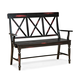 Intercon Furniture Roanoke X-Back Arm Bench in Black