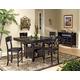Intercon Furniture Roanoke 7-Piece Gathering Set in Black