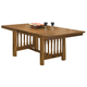 Intercon Furniture Mission Leopold Double Pedestal Table with Trestle in Burnished Mission