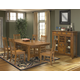 Intercon Furniture 7-Piece Mission Leopold Dining Set in Burnished Mission