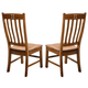 Intercon Furniture Rustic Mission Curved Slat Back Side Chair in Rustic (Set of 2)