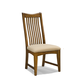 Intercon Furniture Pasadena Revival Slat Back Side Chair (Set of 2) in Mission Brown PR-CH-1050C-MBN-RTA