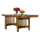 Intercon Furniture Pasadena Revival Trestle Dining Table in Mission Brown