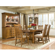 Intercon Furniture Pasadena Revival 7-Piece Trestle Dining Set in Mission Brown