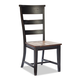 Intercon Furniture Winchester Ladderback Side Chair in Black and Honey Nut (Set of 2)