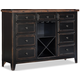 Intercon Furniture Winchester Sideboard with Flip Top in Black and Honey Nut