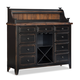 Intercon Furniture Winchester Sideboard with Flip Top and Deck in Black and Honey Nut