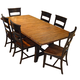 Intercon Furniture Winchester 7-Piece Rectangle Trestle Dining Set in Black and Honey Nut