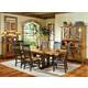 Intercon Furniture Rustic Mission 7-Piece Trestle Dining Set in Rustic