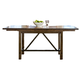 Intercon Furniture Santa Clara Trestle Dining Table in Brandy ST-TA-3884-BDY-C