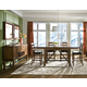 Intercon Furniture Santa Clara 5-Piece Gathering Trestle Dining Set in Brandy