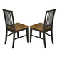 Intercon Furniture Siena Slat Back Side Chair (Set of 2) in Black and Cider SN-CH-180-BCR-RTA