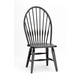 Intercon Furniture Rustic Traditions Windsor Side Chair in Black (Set of 2)