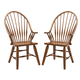 Intercon Furniture Rustic Traditions Windsor Arm Chair in Rustic (Set of 2)