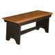 Intercon Furniture Rustic Traditions Backless Bench in Rustic/Black