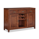 Intercon Furniture Tremont Server with Wine Rack in Earthy Cinnamon