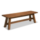 Intercon Furniture Timberline Backless Wood Bench in Saddle Wood
