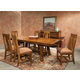 Intercon Furniture Timberline 7-Piece Trestle Dining Set in Saddle Wood