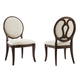 A.R.T Furniture St. Germain Oval Back Side Chair in Coffee/ Foxtail (Set of 2)