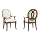 A.R.T Furniture St. Germain Oval Back Arm Chair in Coffee/ Foxtail (Set of 2)
