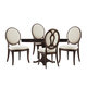 A.R.T Furniture St. Germain 5-Piece Round Dining Set in Coffee/ Foxtail