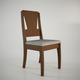 Manhattan Comfort Rose Dining Chair in Nut Brown and Grey Fabric (Set of 2)