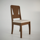 Manhattan Comfort Rose Dining Chair in Nut Brown and Beige Fabric (Set of 2)