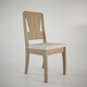 Manhattan Comfort Rose Dining Chair in Walnut and Beige Fabric (Set of 2)