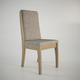 Manhattan Comfort Florence Dining Chair in Walnut and Grey Fabric (Set of 2)