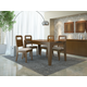 Manhattan Comfort Trimble Contemporary Dining Set in Nut Brown and Black Gloss