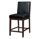 Standard Furniture Couture Elegance Upholstered Counter Height Chair (Set of 2) in Black 10577